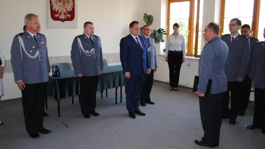 Uroczysta zbiórka w Komendzie Powiatowej Policji w Sokółce