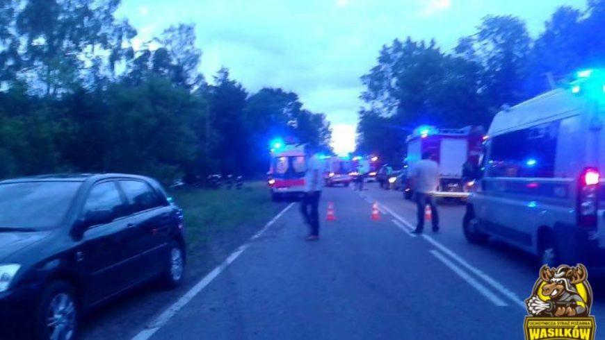 Wypadek drogowy na DK 19