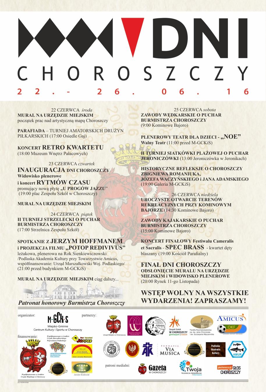 Dni Choroszczy plakat 2016