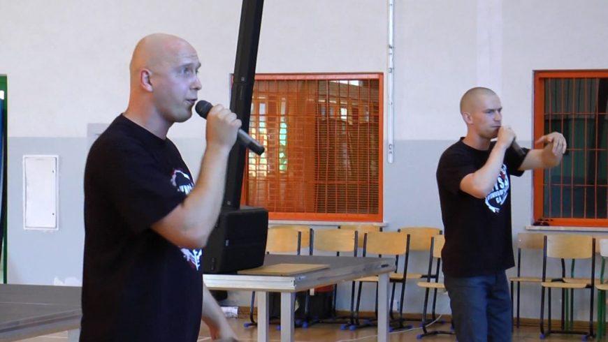 Hiphopowcy w Zespole Szkół w Choroszczy