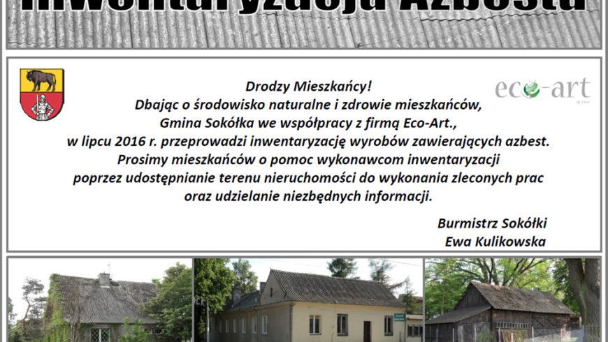 Inwentaryzacja azbestu na terenie gminy Sokółka