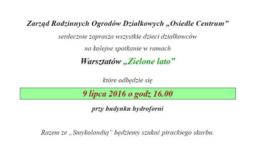 """Warsztaty """"Zielone lato"""" już 9 lipca w Sokółce"""