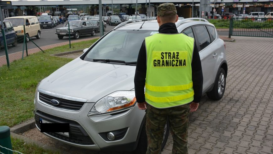 Straż Graniczna w Kuźnicy odzyskała auto za 52 tyś. zł.