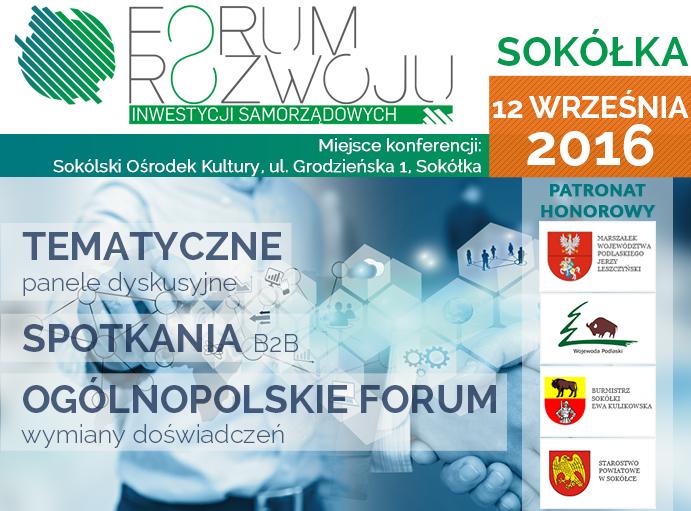 Forum Rozwoju Inwestycji Samorządowych w Sokółce