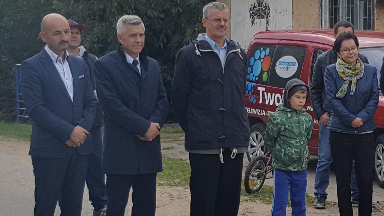 Otwarcie drogi w Kruszewie
