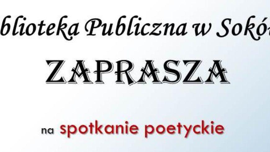 Spotkanie poetyckie w Bibliotece w Sokółce