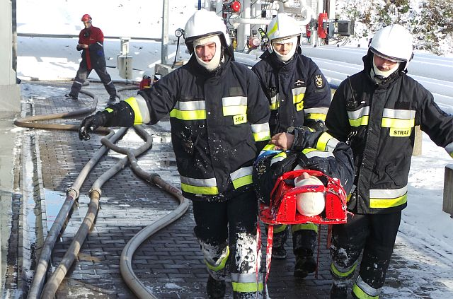 Ćwiczenia sokólskich strażaków