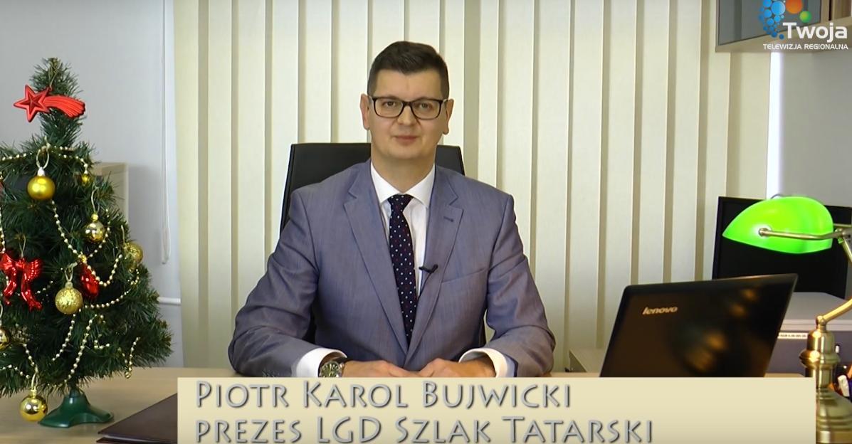 """Prezes LGD """"Szlak Tatarski"""" składa życzenia świąteczne [VIDEO]"""