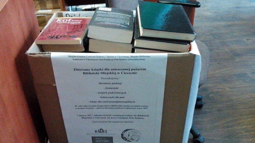 Finał zbiórki książek dla dotkniętej pożarem Biblioteki Miejskiej w Cieszynie