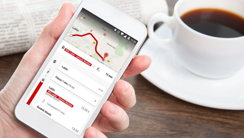 Zaplanuj podróż z POLREGIO na Mapach Google'a