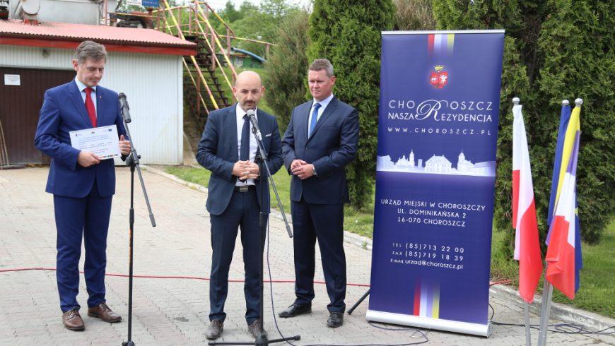 Gmina Choroszcz z pokaźnym wsparciem na modernizację sieci wodno-kanalizacyjnej. Potwierdzi to Wicemarszałek Żywno