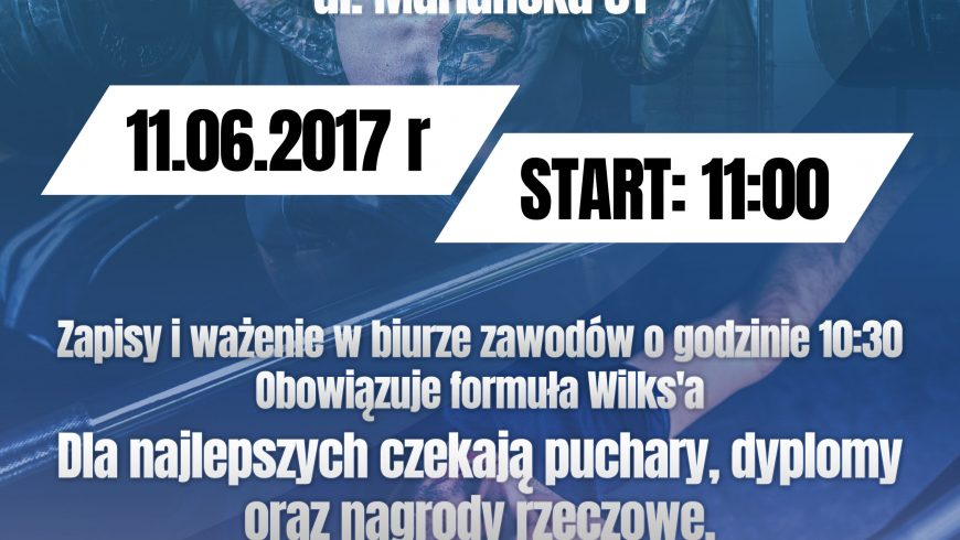 Zawody w wyciskaniu sztangi leżąc podczas obchodów Dni Sokółki 2017
