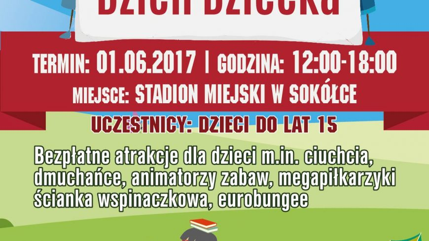 Dzień Dziecka na Stadionie Miejskim w Sokółce – bezpłatne atrakcje dla dzieci!