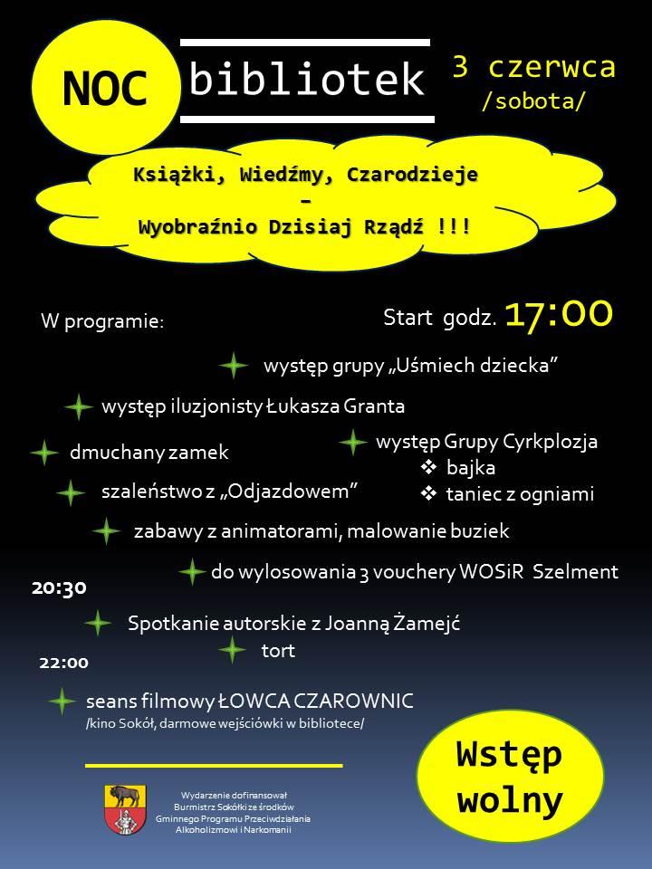 Zbliża się Noc Bibliotek! W Sokółce będzie się działo!