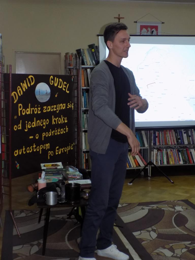Podróżnik odwiedził Bibliotekę Publiczną w Sokółce