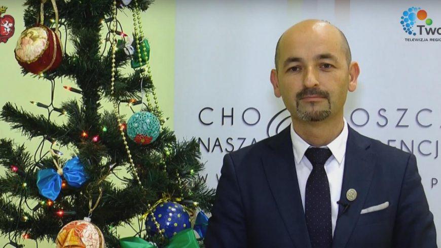 Burmistrz Choroszczy Robert Wardziński składa życzenia świąteczne