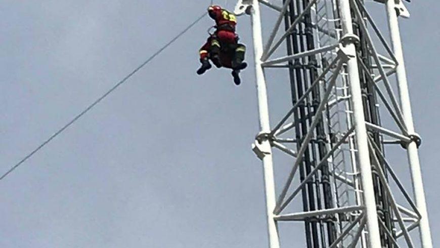 Strażacy przy ewakuacji w Krynicach!!!
