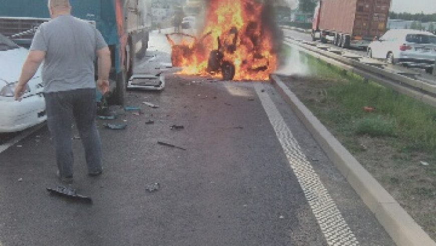 Wypadek na Drodze Krajowej S-8 ( FOTO )