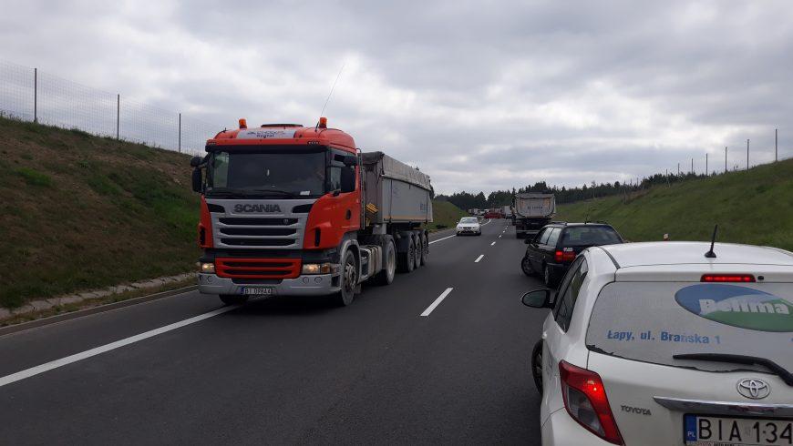 DK 19 w  stronę Sokółki zablokowana