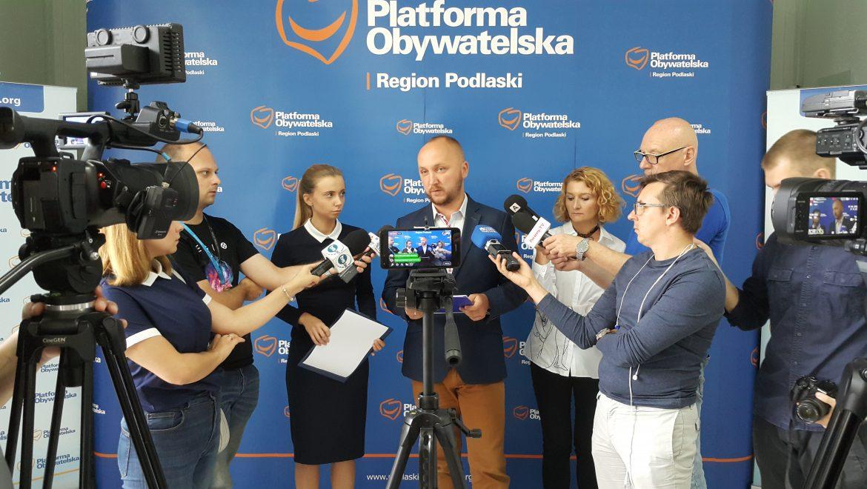 Konferencja Kandydatów Koalicji Obywatelskiej do rady miasta Białegostoku