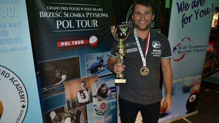 Grand Prix Polski w bilardzie 2018 Sebastian Batkowski zwycięża w  Gdańsku!