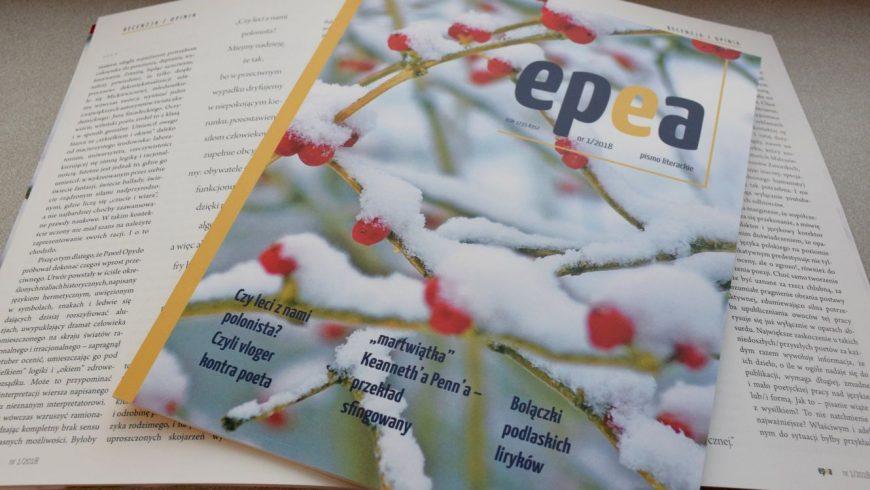 Ukazał się pierwszy numer nieregularnika Epea. Pismo literackie