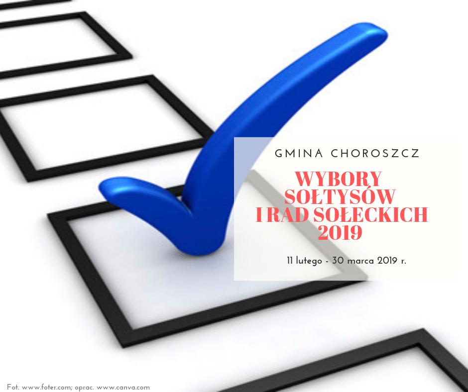 Wybory sołtysów i rad sołeckich w gminie Choroszcz w 2019 roku