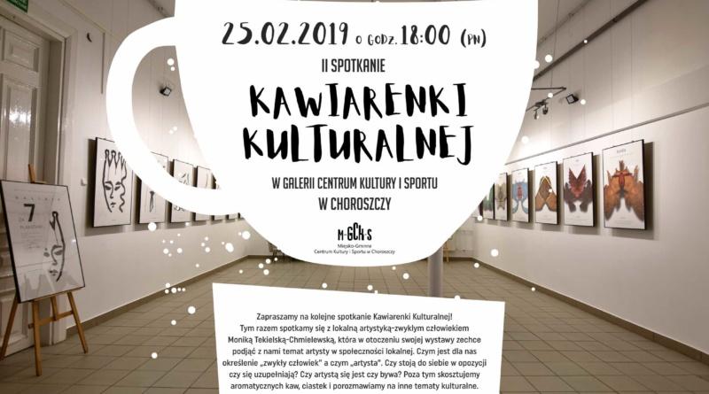 Drugie spotkanie kawiarenki kulturalnej w Choroszczy