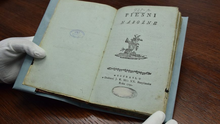 """""""Pieśni nabożne"""" Franciszka Karpińskiego z 1792 r. – nowy nabytek Książnicy Podlaskiej"""