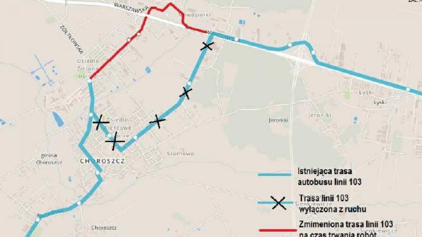 Ulica Powstania Styczniowego w Choroszczy – zmiana organizacji ruchu od 24 czerwca