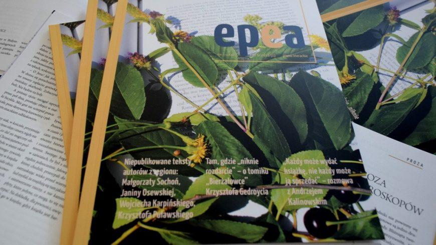 "Nowy numer nieregularnika ""Epea. Pismo literackie"""