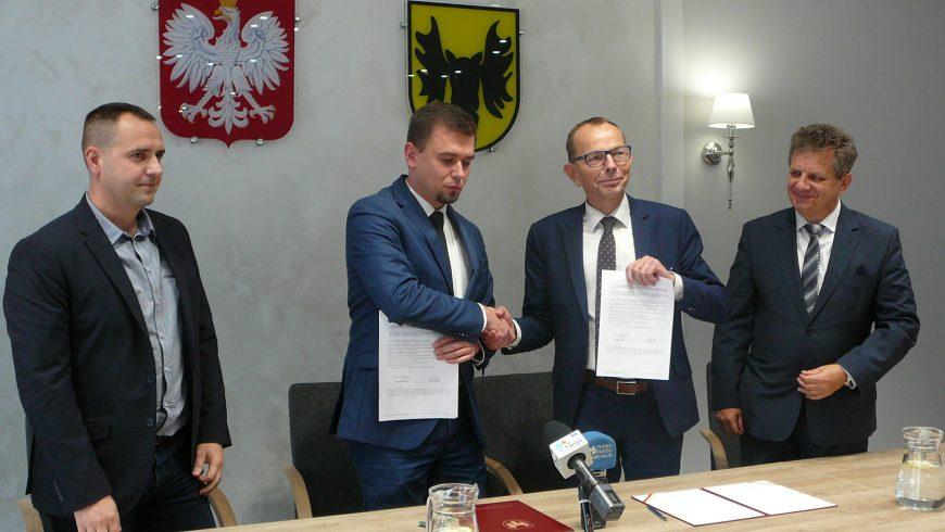 Konferencja prasowa w Urzędzie Miejskim w Wasilkowie