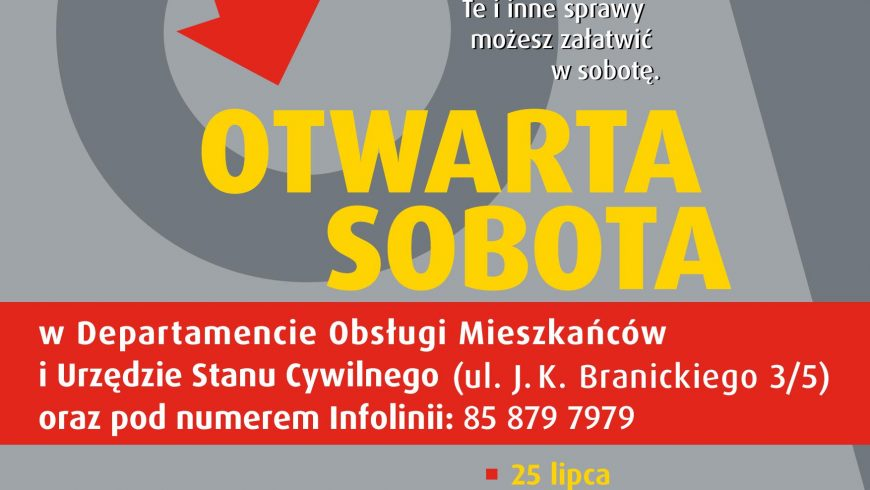 Otwarte soboty w urzędzie w Białymstoku w 2020 r.