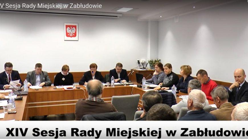 XIV sesja Rady Miejskiej w Zabłudowie