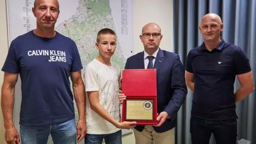 14-letni bokser promuje Podlaskie