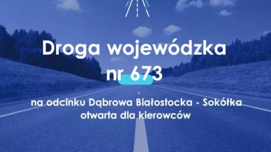 Przebudowana droga Dąbrowa Białostocka – Sokółka oddana do użytku
