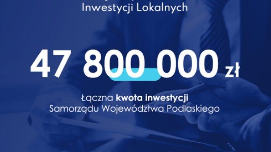 Prawie 50 mln zł dla jednostek podlegających samorządowi województwa w ramach Rządowego Funduszu Inwestycji Lokalnych