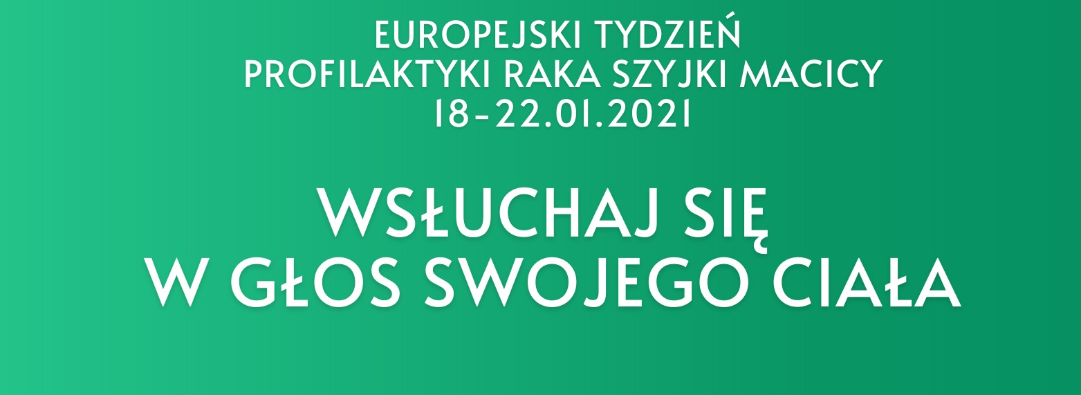 Europejski Tydzień Profilaktyki Raka Szyjki Macicy