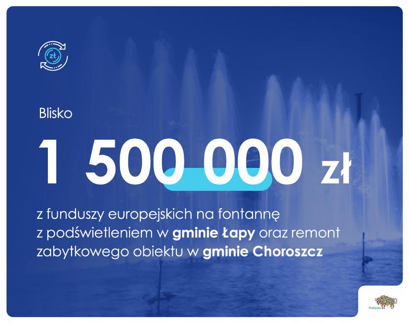 Blisko 1,5 mln zł na nową infrastrukturę w gminach: Choroszcz i Łapy