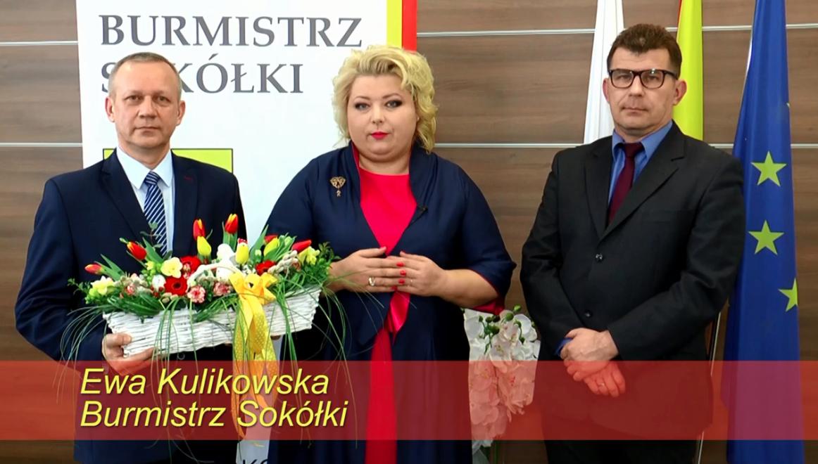 Ewa Kulikowska Burmistrz Sokółki – życzenia Wielkanocne
